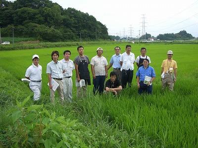 水稲担当指導員の技術統一会