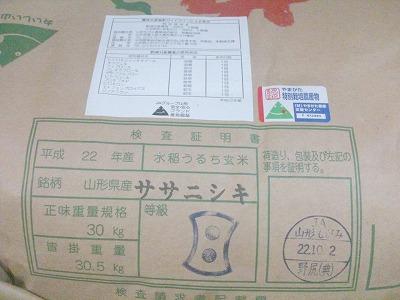 鮭川村ササニシキ